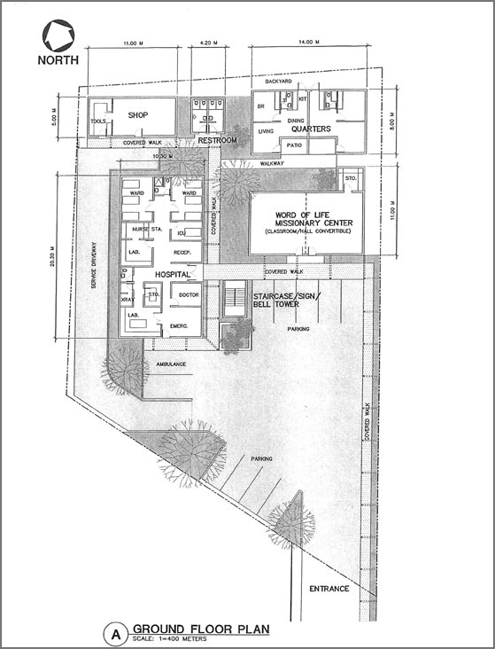 Project Nigeria ground floor blueprint