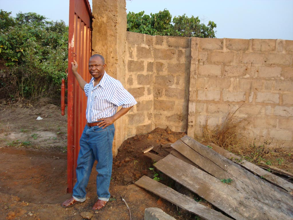 Collins at the Project Nigeria site